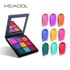 Miaool shimmer matte eyeshadow palette 9 colors bright spring color waaterproof long lasting nude brown smoky eyeshadow MN102