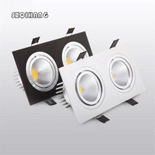 Hot sale 20W Dimmable 110V/220V Double LED Recessed Ceiling Down light  Dinning room Kitchen AC85~265 AC110 AC220 Free Shipping.