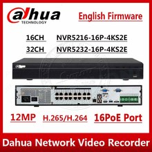DHL Dahua Original NVR5216 16P 4kS2 NVR5232 16P 4kS2 16/32CH 12MP 1U 16PoE 4K&H265 Lite Network Video Recorder NVR5216 16P 4KS2E