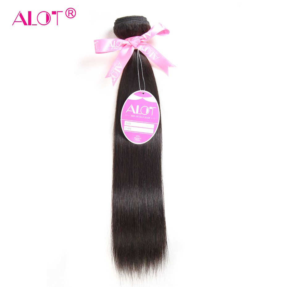 ALOT Hair Brazilian Straight Human Hair 1 Piece Hair Weave Bundles 8-28inch Natural Color Free Shipping Non Remy Hair Extensions