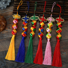 цены Chinese Lucky Knot Tassels Pendants 10 pcs DIY craft tassels decoration mini chinese tassel fringe curtain trim tassel fringe