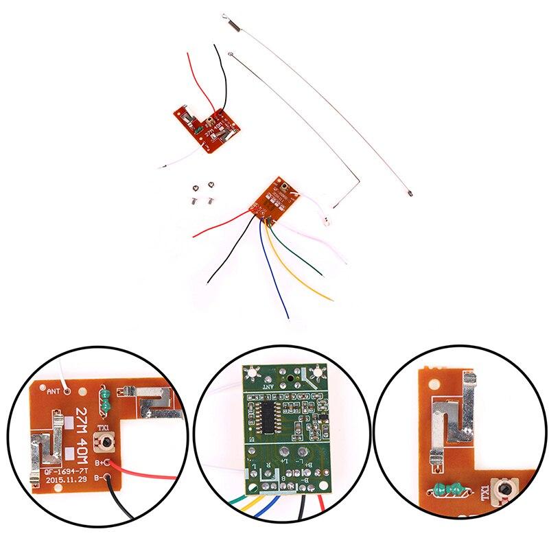 2CH RC remote control 27MHz circuit PCB transmitter /& receiver board Ew