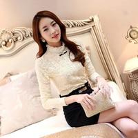 Women Lace Blouses 2017 Spring Autumn New Elegant Femininas Long Sleeve Chiffon Blouse Korean Style Women
