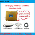 Full Set LCD display! High Power Dual Band GSM 900MHz DCS 1800MHz 65db Mobile Phone Cell Phone Signal Booster Amplifier Repeater