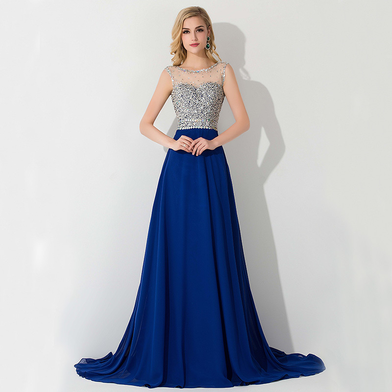 blue evening dresses - Dress Yp