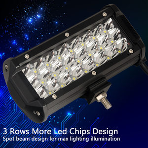 Image 4 - Led Work light 6.5 inch Led Bar for Off Road 4x4 4WD ATV UTV SUV Driving Motorcycle Truck Led Light Bar Auto Lamp