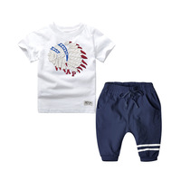 Kids Cartoon Avatar T-shirt and Pants European Style Children's Clothing Tracksuits Set 2-9 Years Boys clothes 2PCS