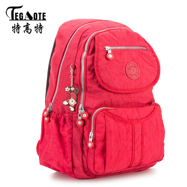 TEGAOTE Classic Big School Backpacks for Teenage Girls Students Book Bag  Man s Backpack Nylon Casual Laptop 1d3c9ba198f19