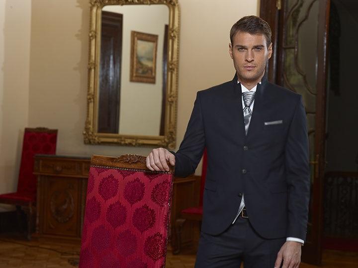 2018 personnalisé Stand Callor mâle costume de mariage Slim Fit marié Tuxedos affaires formel Skinny hommes Blazer hommes costume 2 pièces