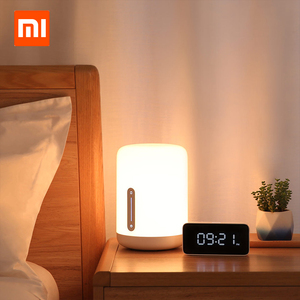 Image 2 - Xiaomi Mijia Bedside Lamp 2 Xiaoai Clock Smart LED Bedroom Night Colorful Desk Light Voice Control Switch for Homekit Mihome APP