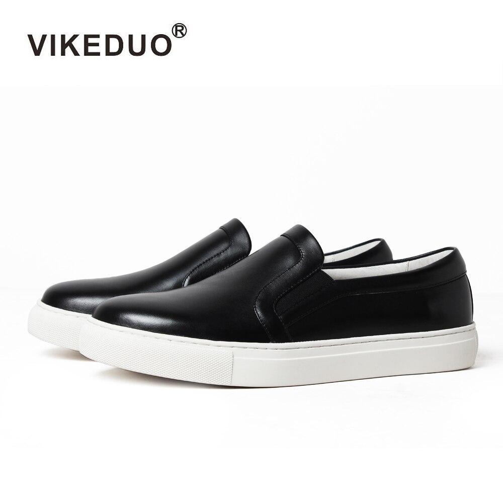 Vikeduo nouvelle mode noir femmes chaussures décontractées mocassins bout rond chaussures femme automne dames filles chaussures plates en cuir mocassin