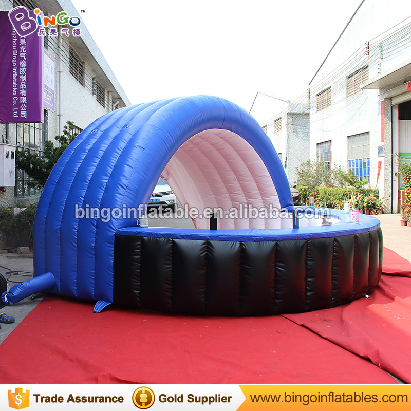 tent type portable Inflatable bar counter tent for events,advertising promotion,trade show 4x4x2.5m toy tent