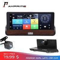 AMPrime 3G Car Dvr Dashcam Touch Screen 7'' Android DVRs Dual Cams GPS Navigation Bluetooth Wifi Recorder Dash Camera Registrar