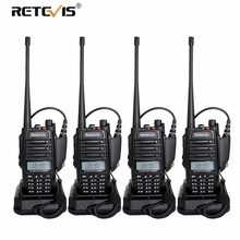 4pcs IP67 Waterproof Radio Walkie Talkie Retevis RT6 hf Transceiver 5/3/1W VHF UHF 136-174Mhz /400-520Mhz cb Radio Comunicador(China)
