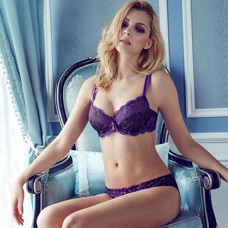 Europe Style Sexy Lace Flower Bra Sets Thin Lingerie Bra And Brief Sets Embroidery Womens Underwear Set Sexy Bra And Panty Sets In Bra Brief Sets From