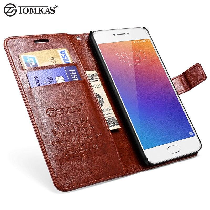 Tomkas original case para meizu m3 note teléfono coque lujo pu cartera de cuero