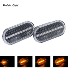 2 pieces Led Dynamic Side Marker Turn Signal Light Car Sequential Blinker For VW SEAT Skoda Ford
