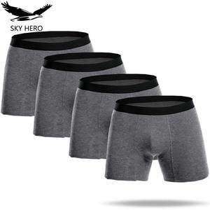 Image 1 - Lange Boxers Katoen Boxershorts Mannen Boxer Homme Heren Ondergoed Boxers Calzoncillos Cuecas Onderbroek Mannelijke Slipje voor Man Jdren