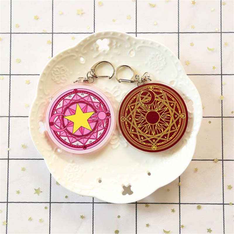 Friendly Anime Cardcaptor Sakura Cosplay Accessories Magic Circle Star Key Chain Punctual Timing Novelty & Special Use Costume Props