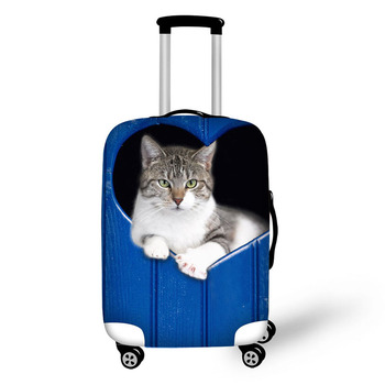Blue Board Dog Cat Travel Accessories Suitcase Protective Covers 18-30 Inch Elastic Luggage Dust Cover Case Stretchable Bag pvc suitcase bag protective covers transparent rain dust luggage travel accessories wear resistant bag protect parts sleeve case