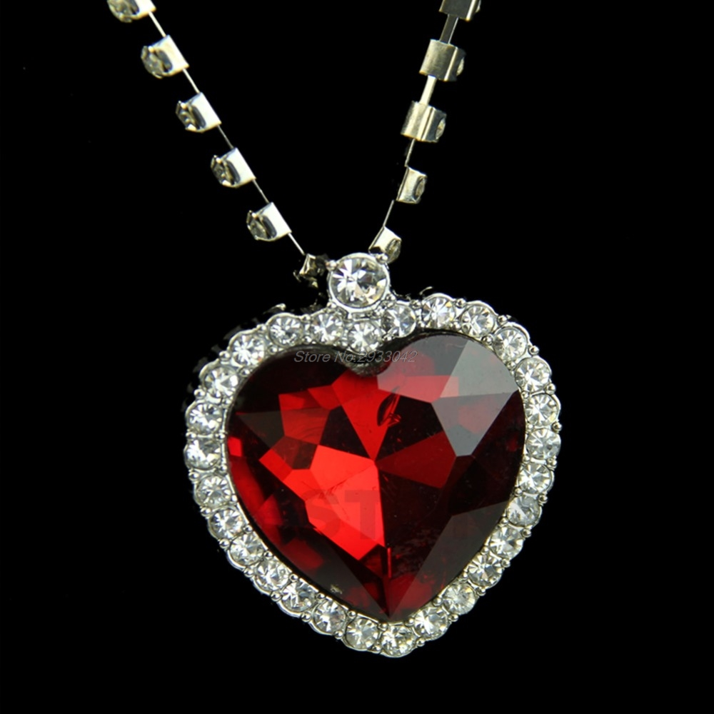 online crystal red thomas heart cast kiln mcphee buy pendant shop glass by