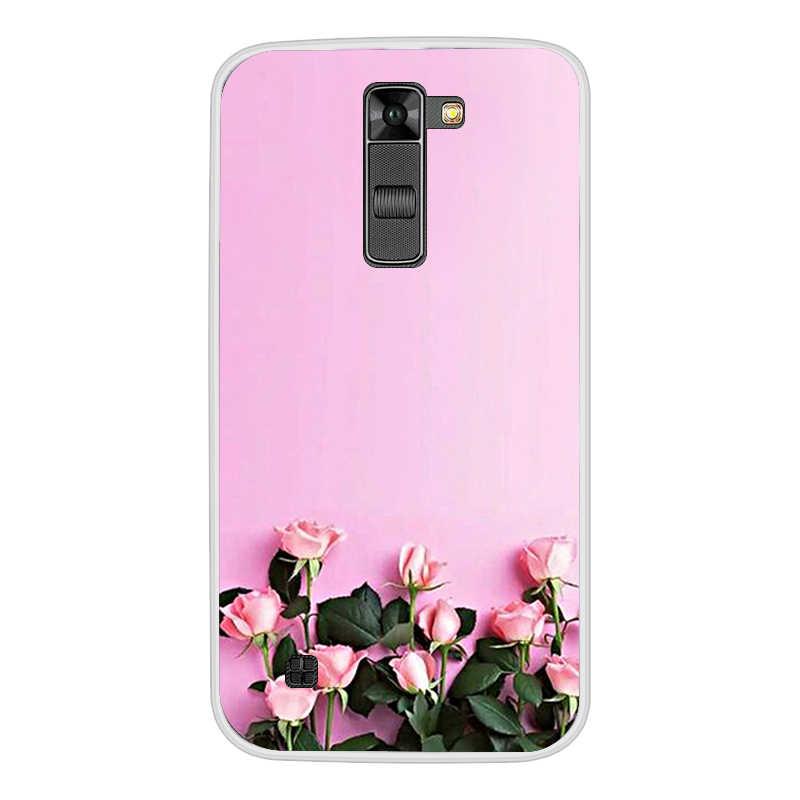 Lembut Silicone Cover TPU Case untuk LG K7/Upeti 5 LS675/X210 X210DS Ponsel Case Silikon Yang Lembut Kembali penutup Case untuk LG K7 K 7 Cover