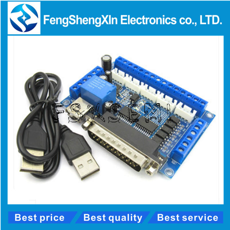 MACH3 Parallel Port Control 5 axis CNC Breakout Board with USB Cable for Stepper Motor Driver  MACH3 Parallel Port Control 5 axis CNC Breakout Board with USB Cable for Stepper Motor Driver