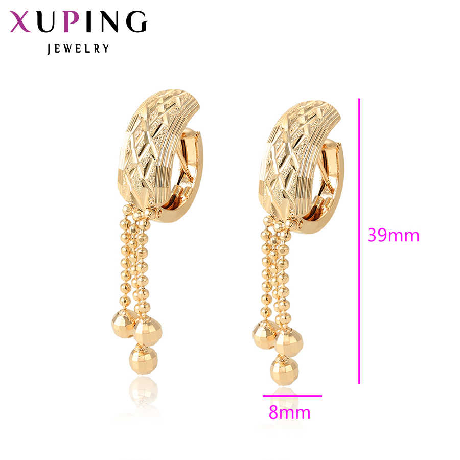 Xuping Simple doux petit frais boucles d'oreilles pour les femmes Thanksgiving noël bijoux cadeau S102, 4-96890