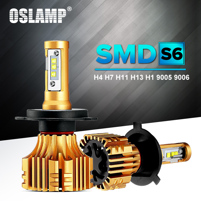 Oslamp SMD Led-scheinwerfer H4 H7 LED 6500 Karat Weiß Automobil 9005 9006 vorder Auto Led-lampen H11 Nebelscheinwerfer HB3 HB4 H1 Birne All-in-one