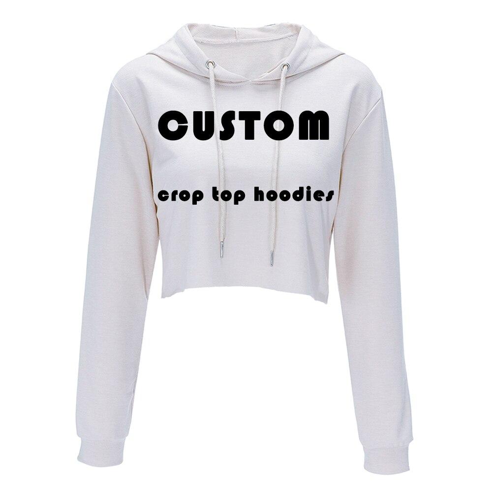 US $17.92 20% OFF Drop Ship Custom Made Harajuku Sweatshirt Woman Girls Crop Top Cartoon 3D Printing Short Sweatshirt Hooded Wholesale Price Hoodies &
