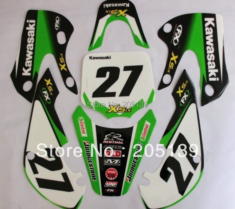 Online Get Cheap Graphics For Motorcycles Aliexpresscom - Kawasaki motorcycles stickers