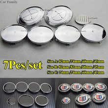 7X For bmw ALPINA E60 E90 F10 F30 F15 Car Steering Wheel Stickers Centre HubCap Front Rear Badge 82mm 74mm 68mm 45mm