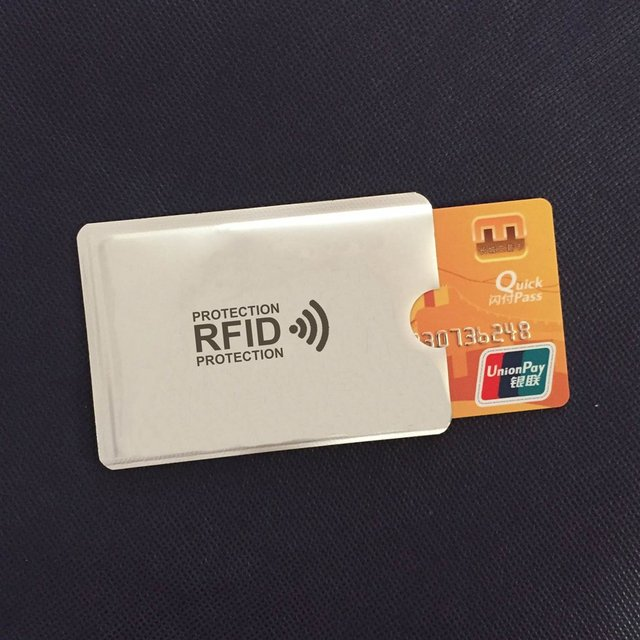 Anti Rfid Wallet Blocking Reader Lock Bank Card Holder Id Bank Card Case Protection Metal Credit NFC Holder Aluminium 6*9.3cm 4