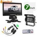 """Hotsale 12/24 V IR de Visión Trasera Cámara de Reserva Sin Hilos Del Coche Kit de 7 """"TFT LCD Monitor para Truck/Van"""