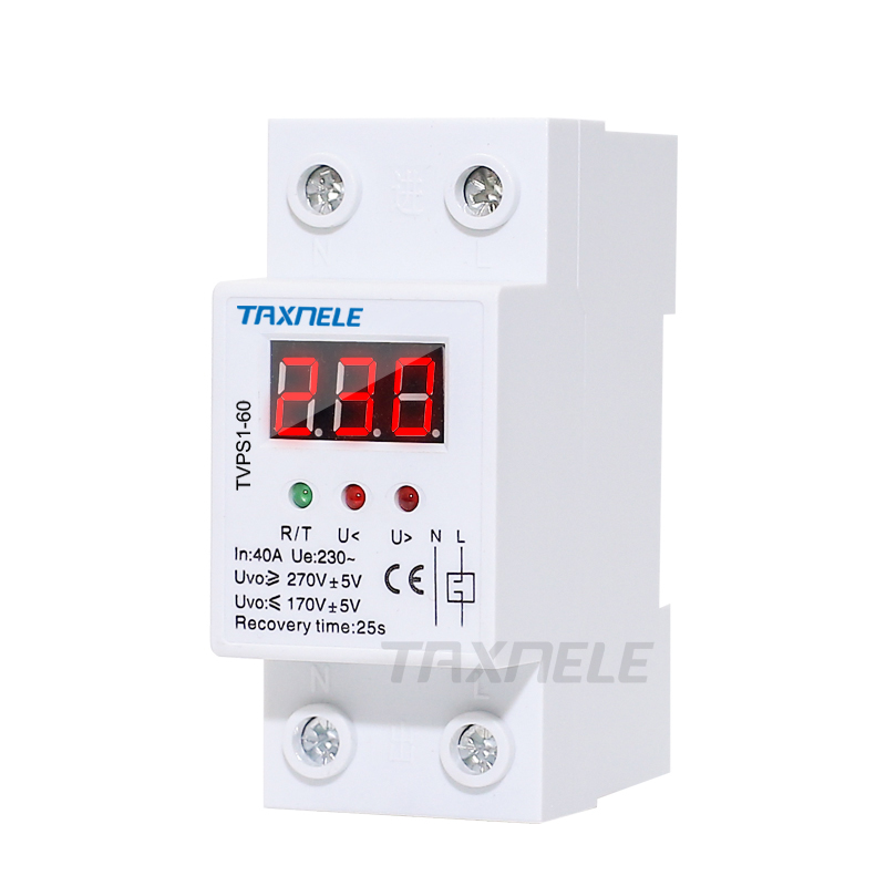 40A 220V Automatic Over /& Under Voltage Protective Reconnect Recovery Device