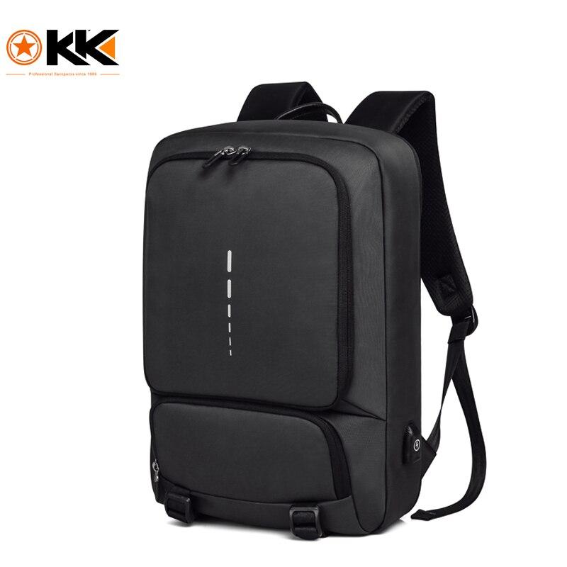 KAKA Brand Fashion New Arrival Solid Backpack Men Waterproof Travel Bag Large Capacity Laptop Shoulder Bag Solid Soft Handle Bag