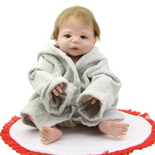 2016 HOT Sale NPK 23 Inch Reborn Baby Doll Realistic Full Body Silicone Newborn Dolls Kids Birthday Gifts Free Pacifier