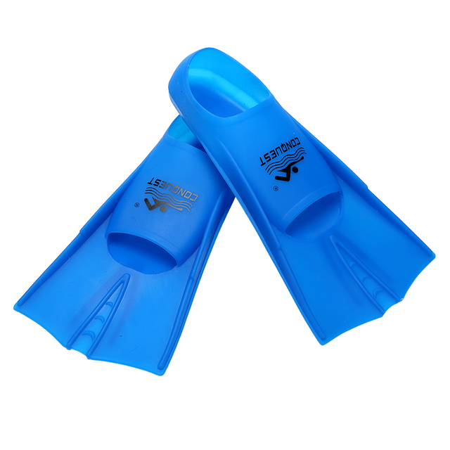Professional Blue Silica Gel Swimming Fins for Adults Womens Mens Kids  Flippers Water Sports Shoes 2018 DBO eebe1a59df