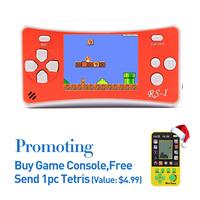 Free Shipping 2.5 Inch Retro Game Handheld Player Classic Games Support AV Cable TV Output Kids Portable Game Player with Gift
