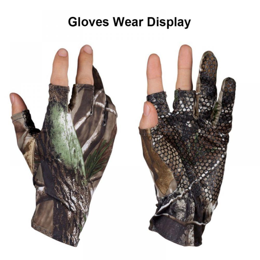 Gloves Riding Hunting Camouflage Skidproof Anti-Slip Elastic Comfortable Cut-Finger New