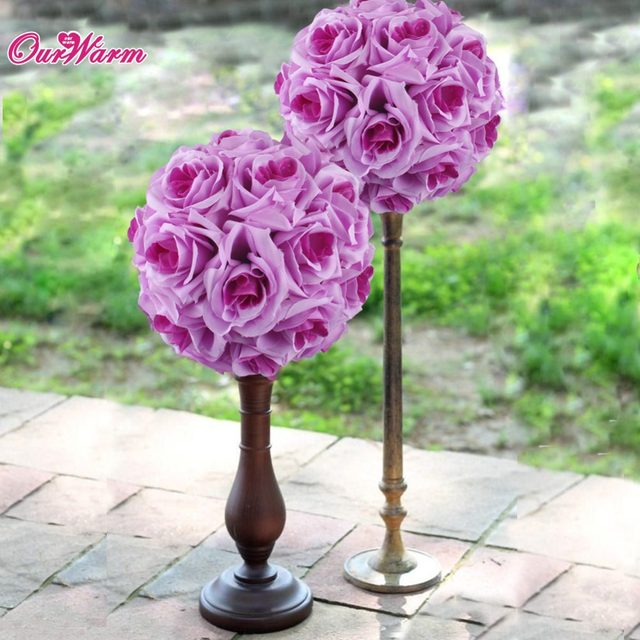 Online Shop 18cm/7in Silk ribbon Rose Flower Ball Artificial ...