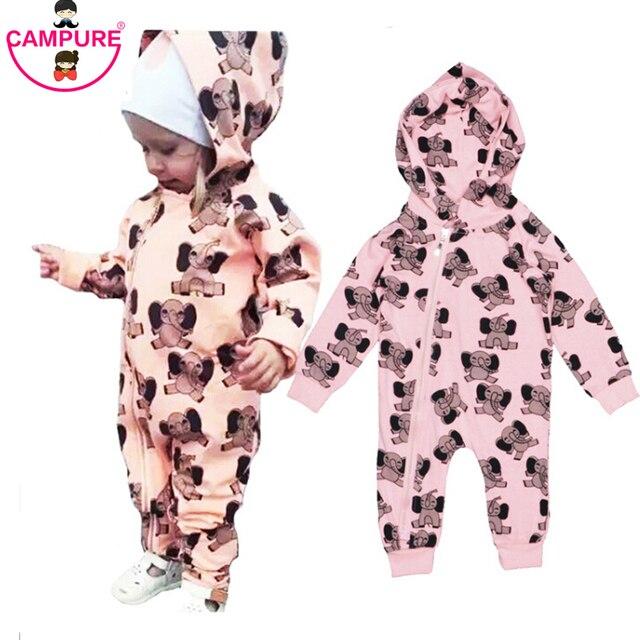 2016 New Autumn Winter Spring New Rodini Elephant Pattern Romper Baby Boys Girls Toddler's Set Bobo Style Jumpsuit Clothing