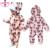 2016 Nueva Otoño Invierno Primavera Nueva Rodini Patrón Elefante Conjunto Bobo Estilo Mono del Mameluco Del Bebé Niños Niñas Niño Ropa