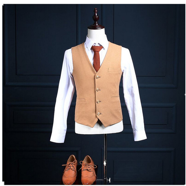 High Quality Custom Made Slim Handsome New Arrival Handsome Men's Mature Responsible Casual Vest Leisure Waistcoat