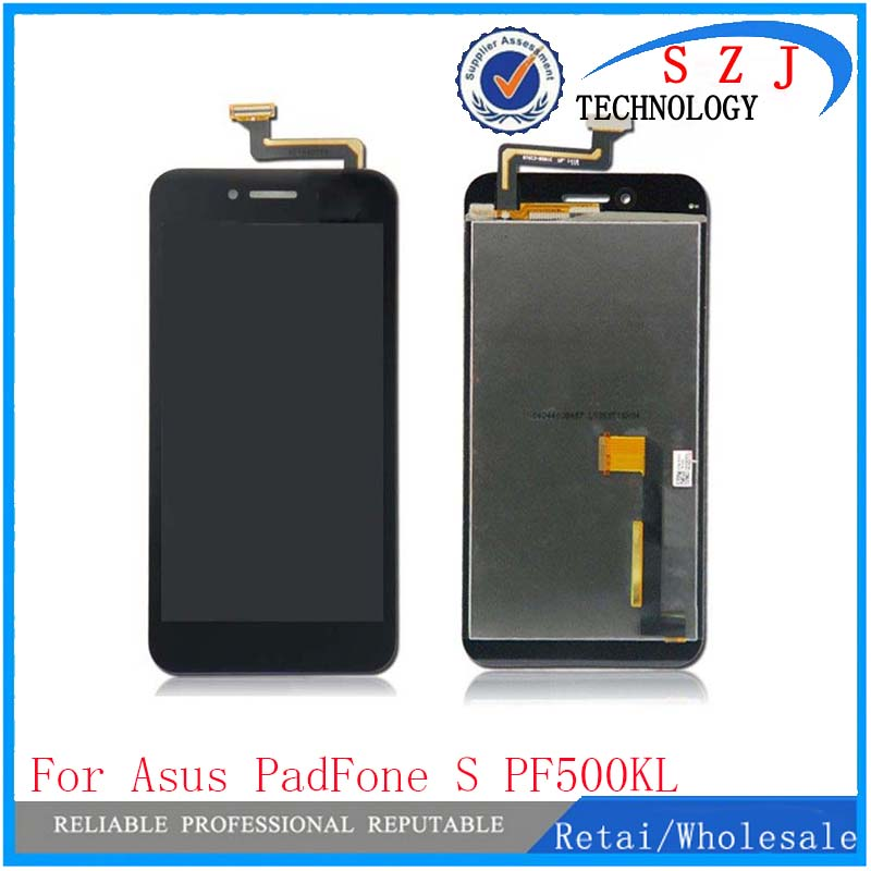 New case For Asus PadFone S PF500KL PF-500KL PF500 LCD with Touch Screen Digitizer Replacement Assembly Free Shipping brand new replacement parts for huawei honor 4c lcd screen display with touch digitizer tools assembly 1 piece free shipping