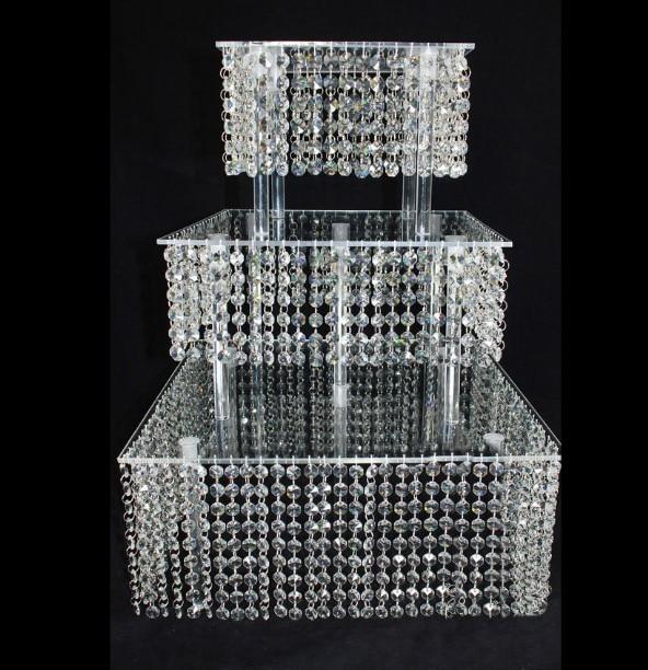Mode kristall acryl hochzeit hoch tortenständer dessert tisch - Partyartikel und Dekoration - Foto 1