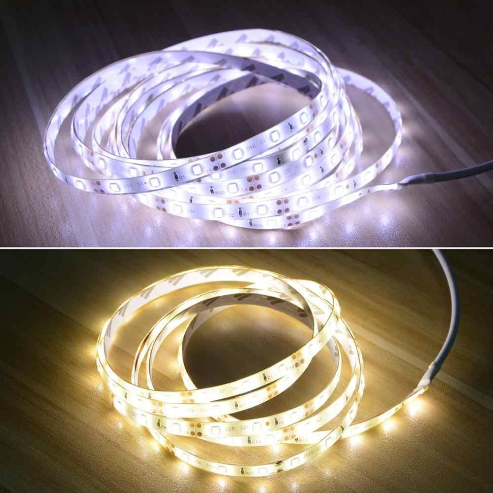 12V PIR MOTION SENSOR LED Di Bawah Kabinet Light 1 M 2 M 3 M 4 M 5 M LED lampu Strip dengan 2A Uni Eropa US Plug Adaptor untuk Dapur Kamar Tidur