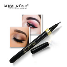 MISS ROSE New Model Black EyeLiner Eye Pencil Long-lasting Special Penpoint Design Liquid Eye Liner Quick Dry Makeup Beauty Tool недорого