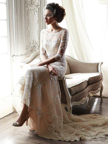 Light Champagne Mermaid Lace Wedding Dresses 2019 Vestidos De Novia Open Back 3/4 Sleeves Bridal Gowns Handmade abiti da sposa-in Wedding Dresses from Weddings & Events    3
