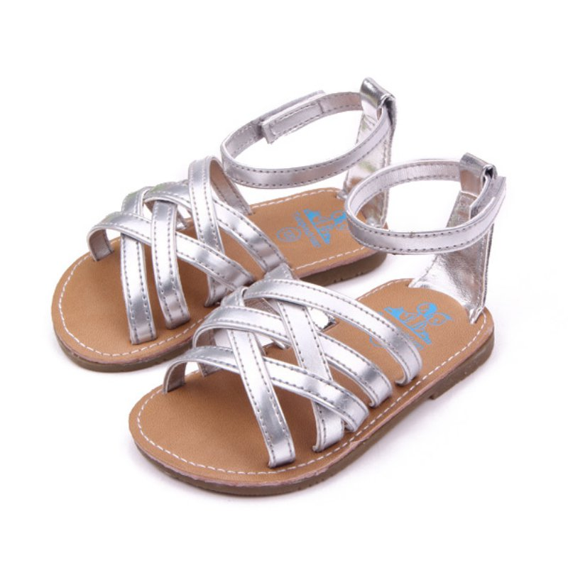 Girls Sandals Summer Shoes Synthetic Leather Toddler Girls Sandals New 2018 Pincess Shoes Cow Muscle Sole Old Fashion Brand 100% High Quality Materials Sandals Children's Shoes